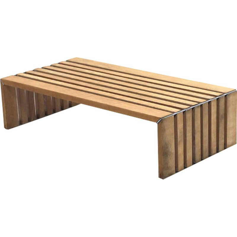 Mid-century Slat Bench by Walter Antonis for Arspect - 1970s