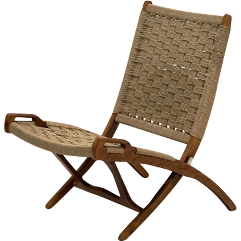 Mid century Folding Rope Chair by Ebert Wels - 1960s