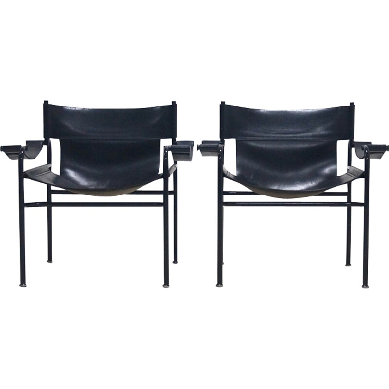 Set of 2 Walter Antonis Lounge Chairs for 't Spectrum - 1970s