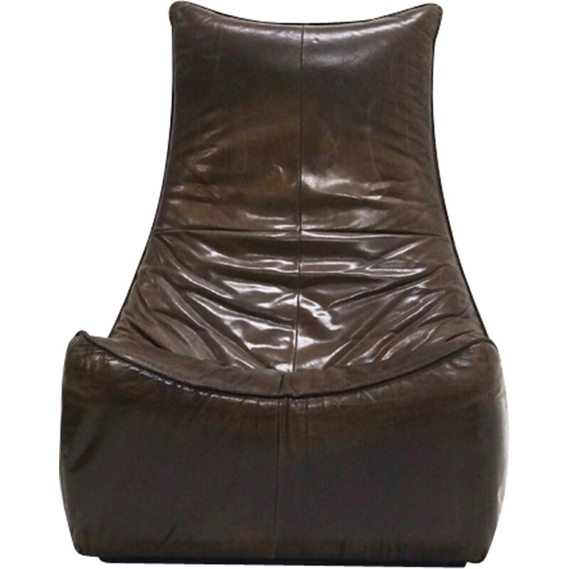 Leather Florence Lounge armhair by Gerard van den Berg for Montis - 1970s