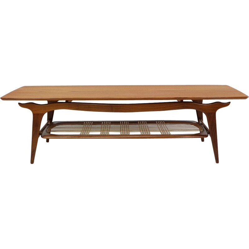 WeBe Louis Van Teeffelen Teak Coffee Table - 1950s