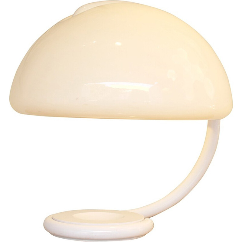 Italian Vintage Lamp in white lacquered metal - 1970s