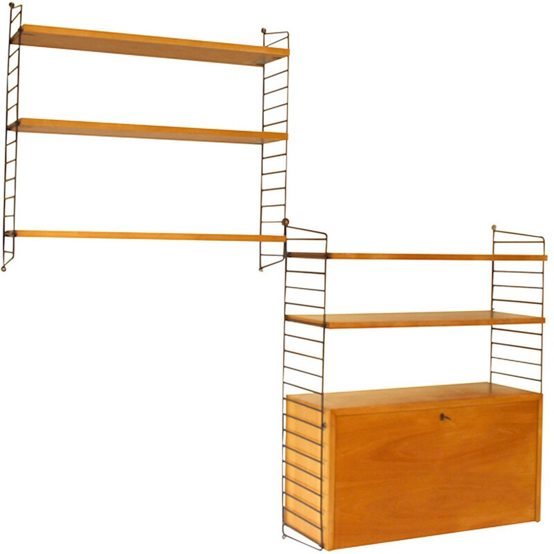 Set of two shelves for String Furniture - 1960s