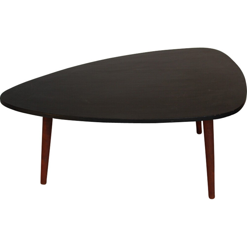 Coffee Table made of black lacquered wood - 1960s