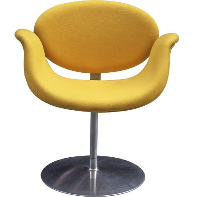 "Vintage yellow ""Tulip"" armchair by Pierre Paulin - 1960s"