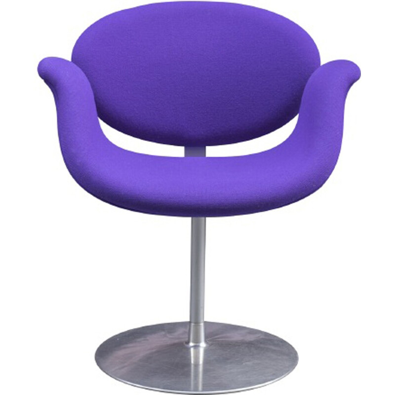 "Vintage purple ""Tulip"" armchair by Pierre Paulin - 1960s"