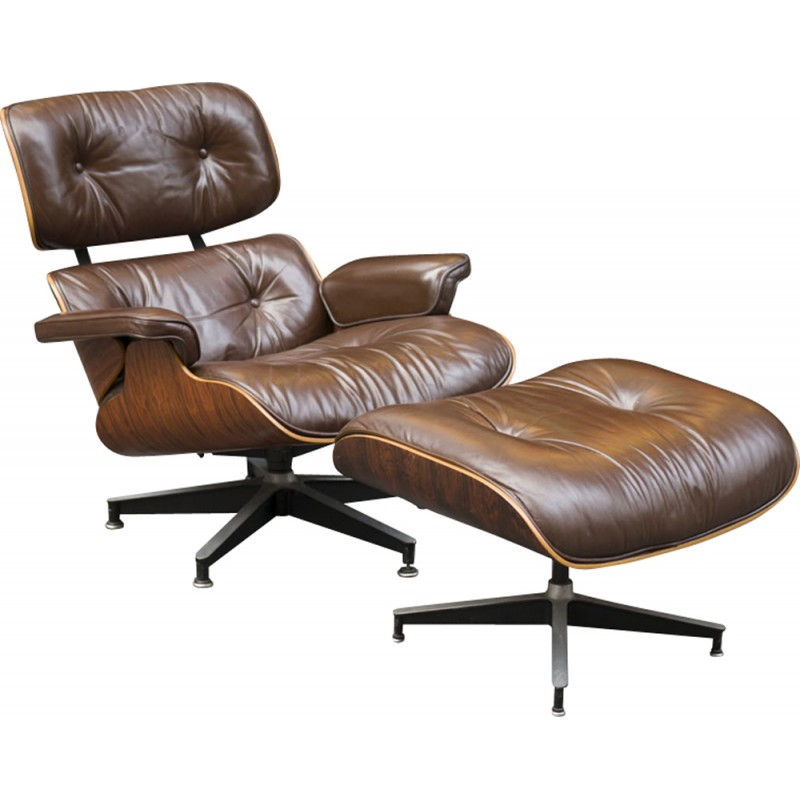 Brown Lounge Chair by Eames for Herman Miller - 1970s