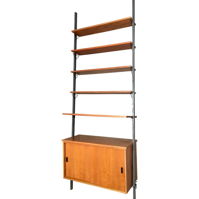 Vintage Modular shelf in teak and metal - 1950s