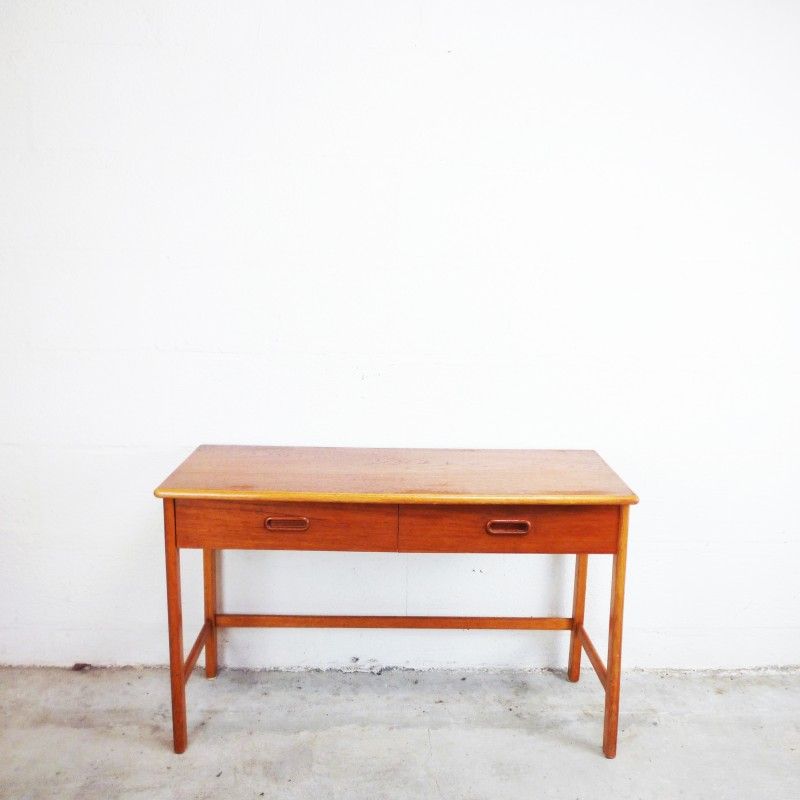 teak console vintage 1960s design market. Black Bedroom Furniture Sets. Home Design Ideas