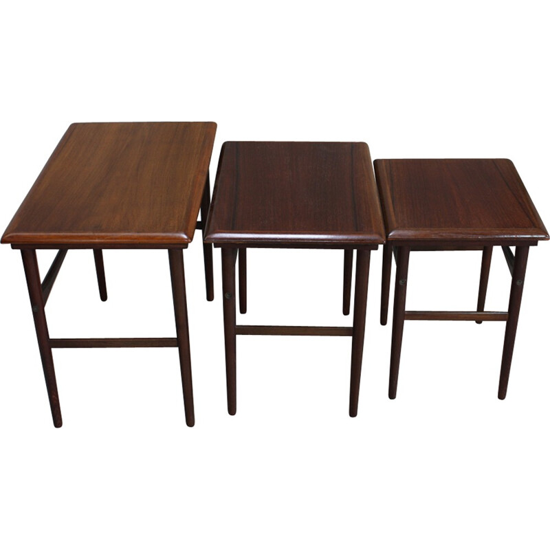 Vintage Rosewood Nesting Tables from Dyrlund - 1960s