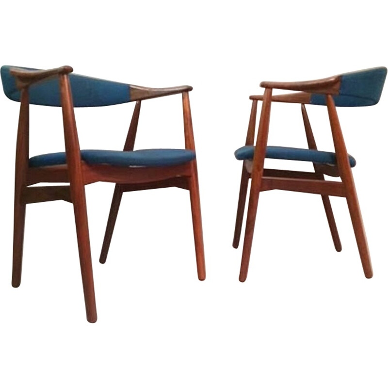 Set of 4 model 213 armchairs by TH Harlev for Farstrup Mobler - 1950s
