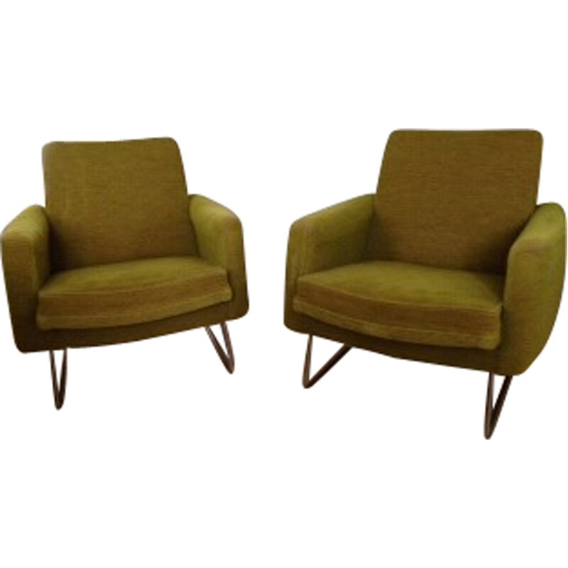 Pair of armchairs by Louis Paolozzi - 1950s