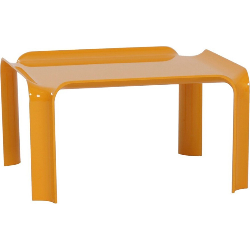 Yellow Coffee Table 877 by Pierre Paulin for Artifort - 1960s