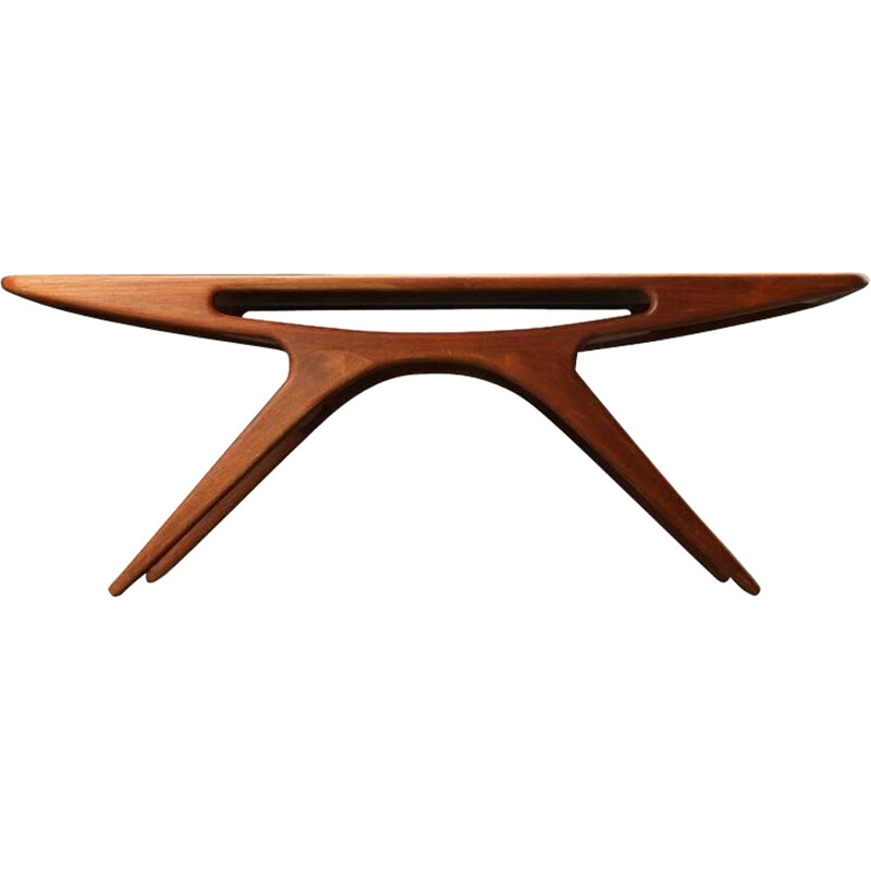 """""""The Smile"""" Coffee Table in Teak by Johannes Andersen for CFC Silkeborg - 1950s"""
