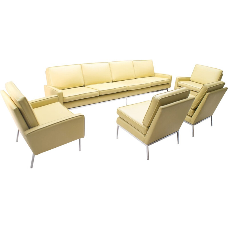 Leather living room set by Florence Knoll - 1960s