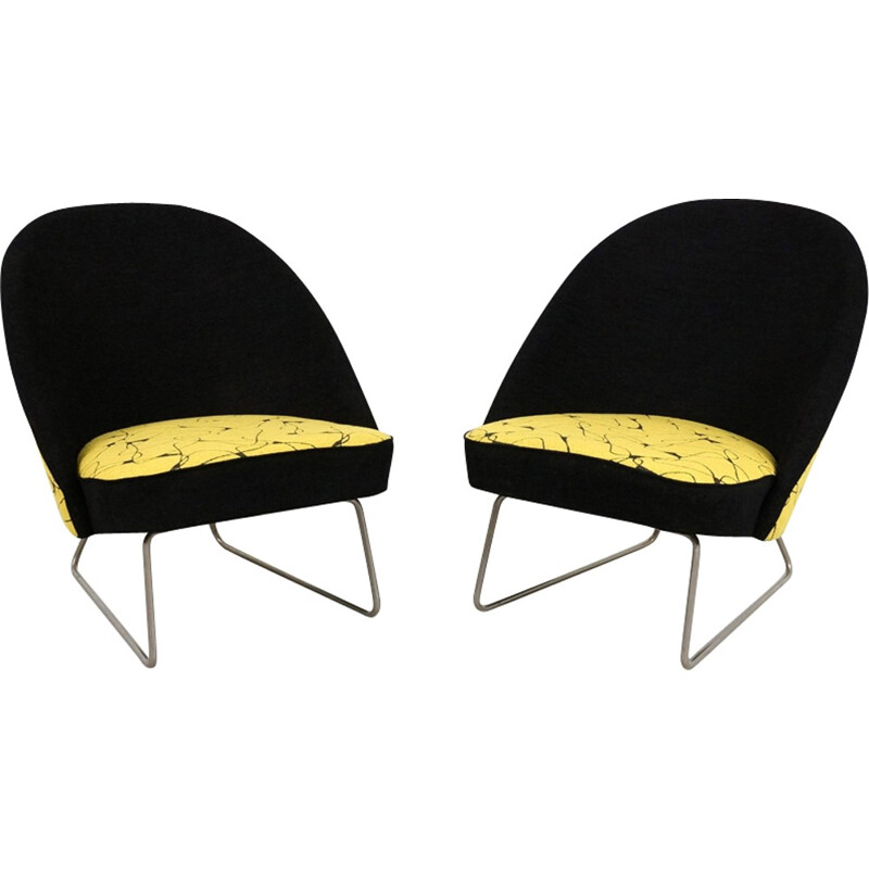 Pair of model 115 armchairs by Theo Ruth for Artifort - 1950s