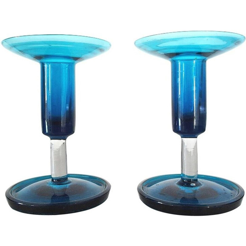Pair of Signed Harlekiini Candleholders by Nanny STILL - 1960s