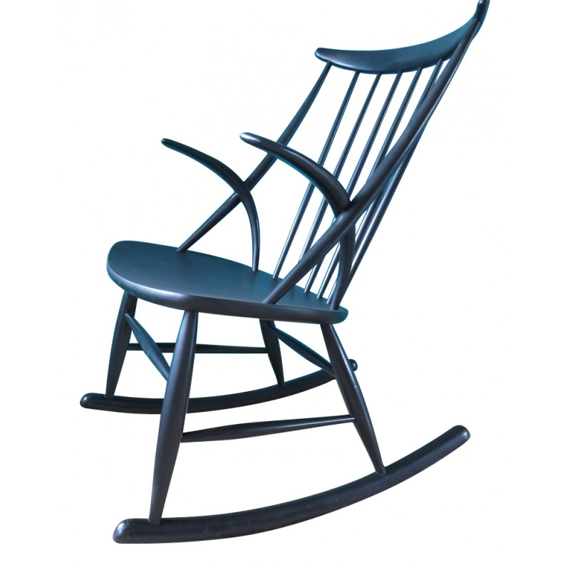 patio white furniture yacht plastic chair rocking club black at lowes outdoor charcoal steel shop