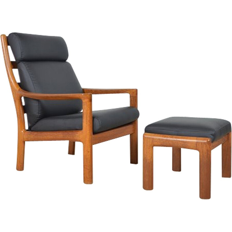 Armchair with Ottoman by Johannes Andersen for Silkeborg - 1960s