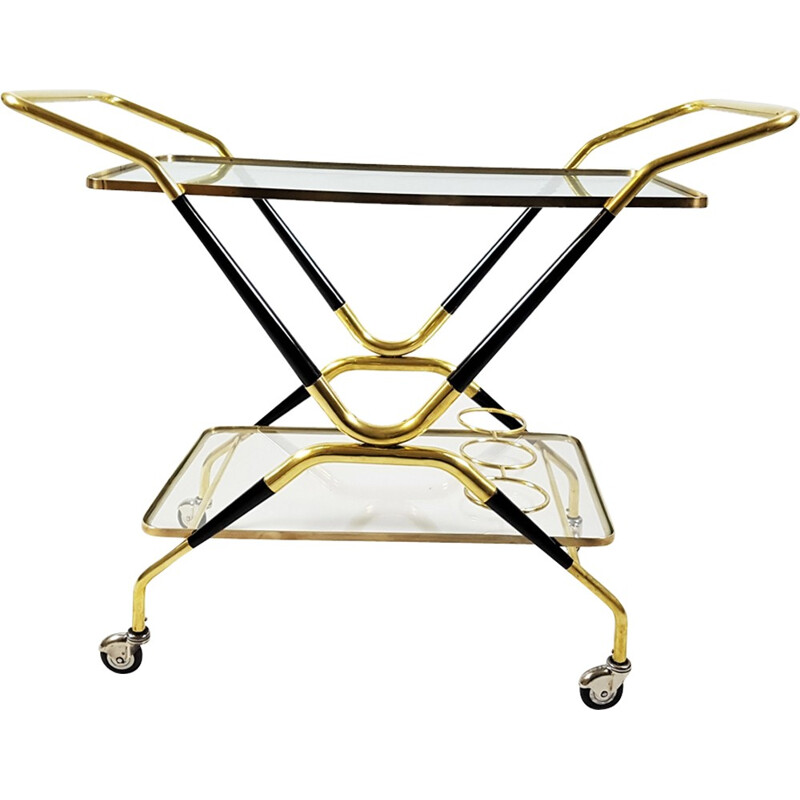 Vintage brass trolley by Cesare Lacca - 1950s
