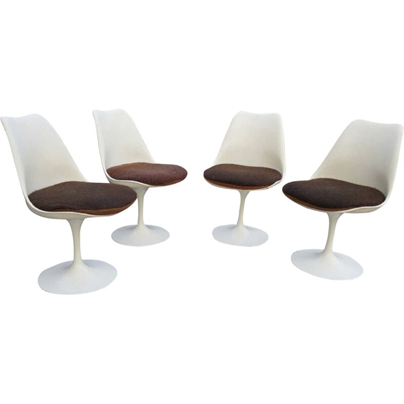 Set of 4 Tulip chairs by Eero Saarinen for Knoll - 1977