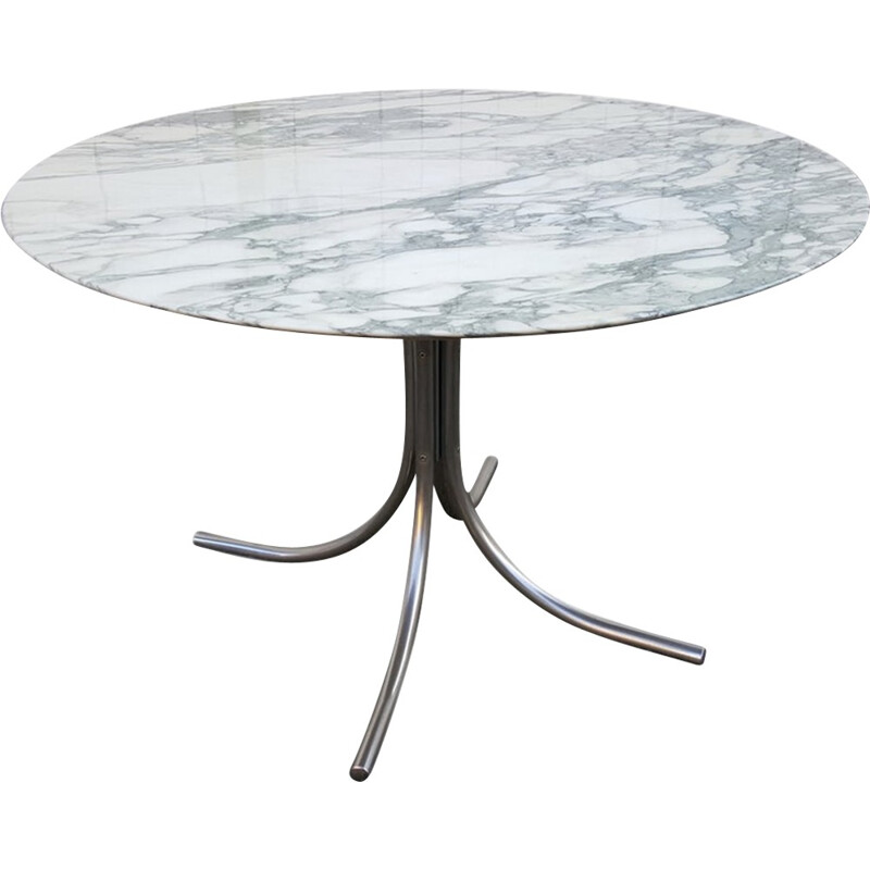 Arabescato vintage round table by Roche Bobois - 1970s