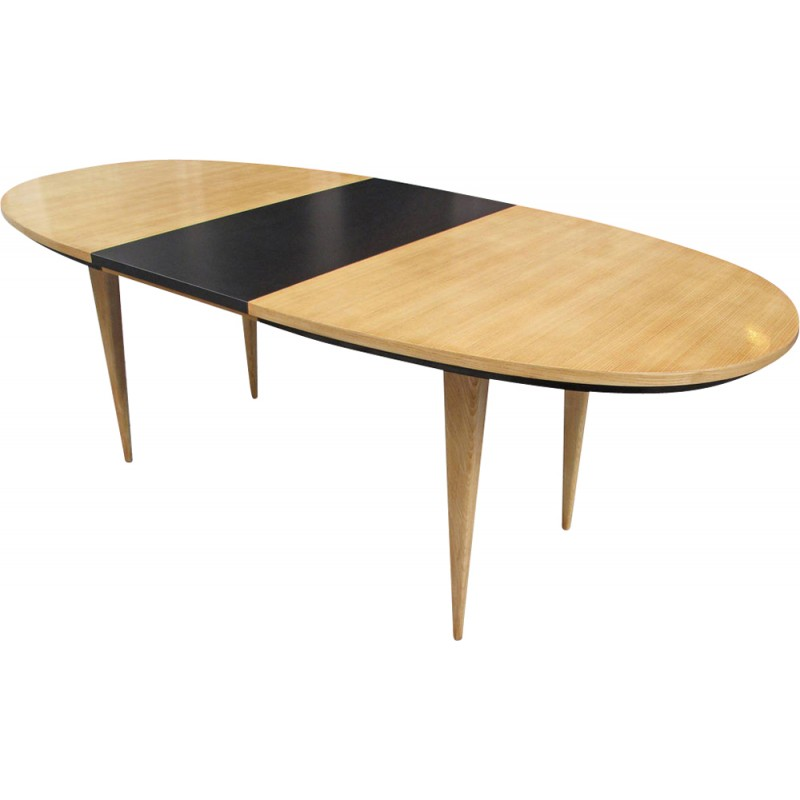Ash and Formica table by Charles Ramos - 1950s