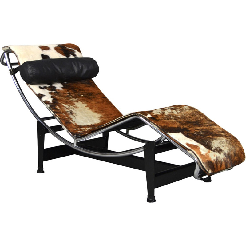 Le Corbusier LC4 long chair with 3 hair colours- 1960s