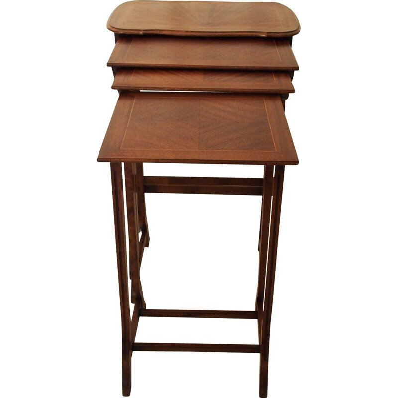 Set of 4 nesting tables in wood - 1930s