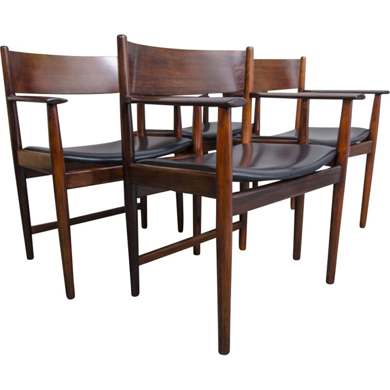 Set of 4 rosewood Dining Chairs by Arne Vodder for Sibast Furniture - 1960s
