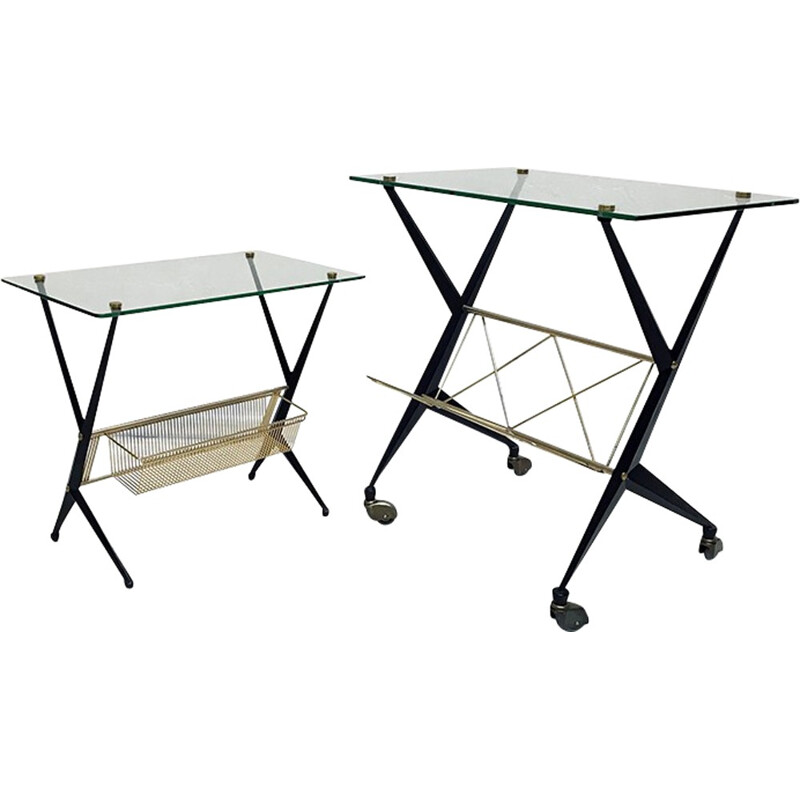Pair of side tables designed by Angelo Ostuni for Frangi Milano - 1950s