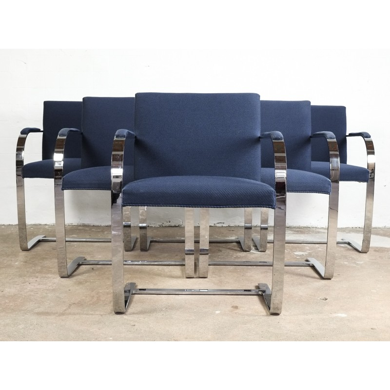 Set Of 6 BRNO Chairs By Ludwig Mies Van Der Rohe For Knoll International    1980s   Design Market