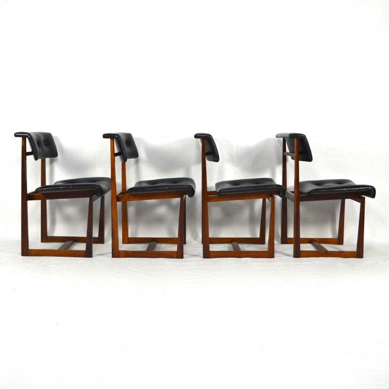 Fantastic Set Of 4 Scandinavian Dining Chairs In Rio Rosewood 1950S Unemploymentrelief Wooden Chair Designs For Living Room Unemploymentrelieforg