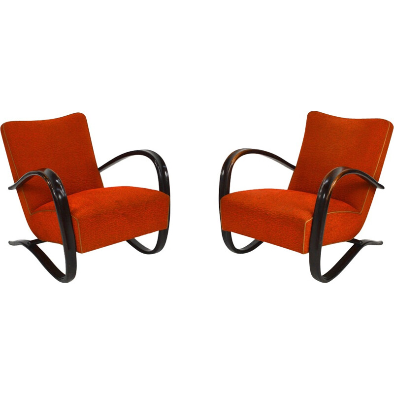 Pair of lounge armchairs de Jindrich Halabala - 1957