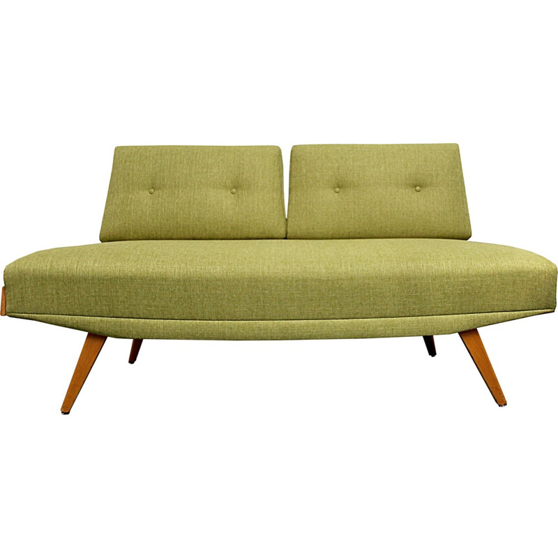 Vintage daybed in apple green - 1950s