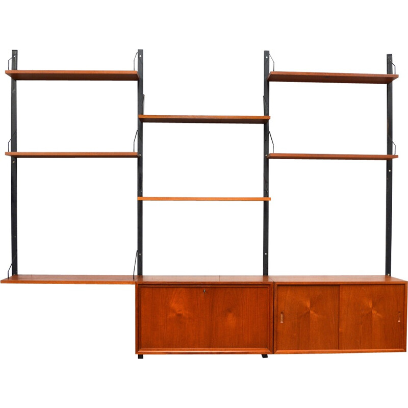 """""""Royal"""" wall unit system in teak by Poul Cadovius for Cado - 1950s"""