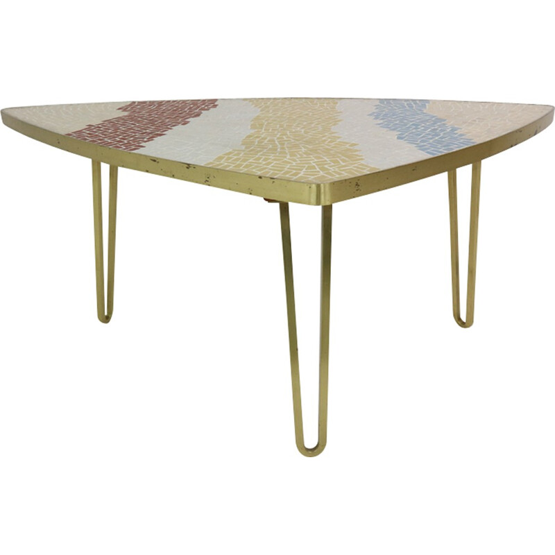 Mosaic Vintage Coffee Table by Berthold Muller - 1950s