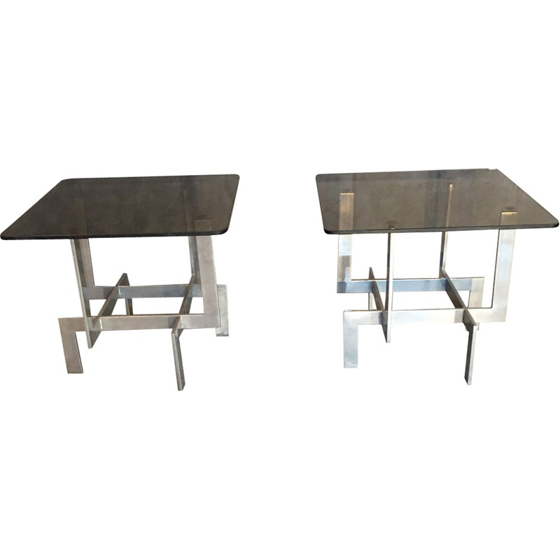 Pair of coffee tables by Paul Legeard for Dom - 1970s