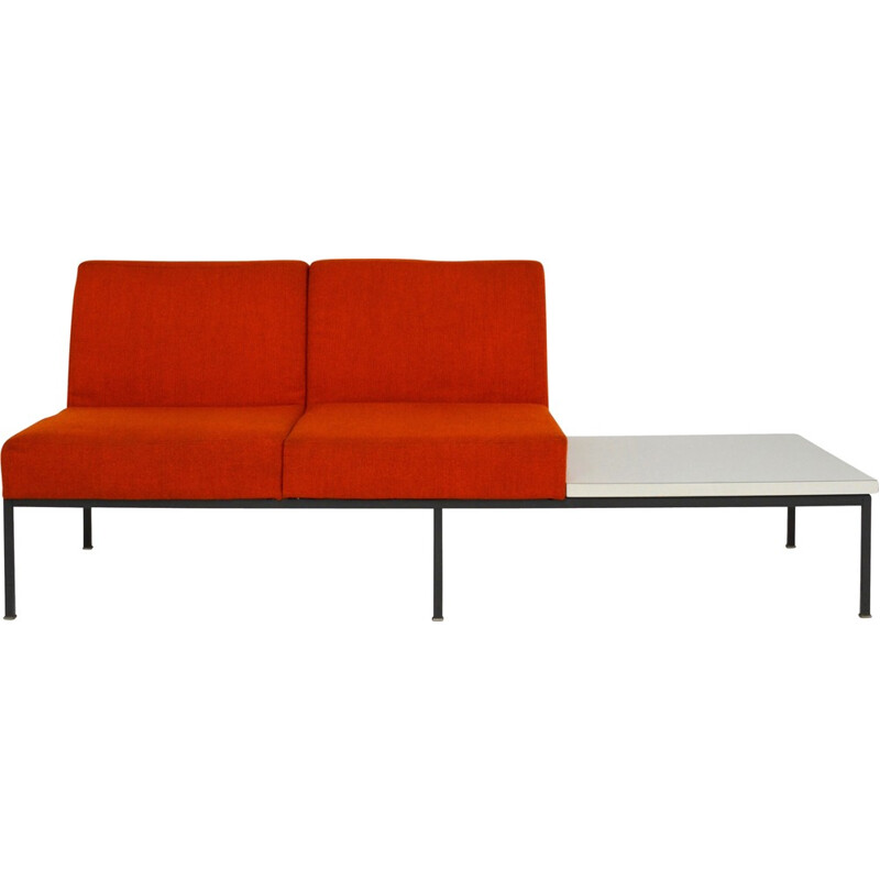 2-seater sofa with coffee table by Kho Liang Ie for Artifort - 1960s