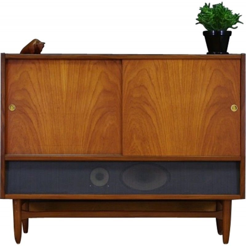 Incredible Vintage Cabinet In Teak With Gramophone Tv Radio By To R 1970S Download Free Architecture Designs Griteanizatbritishbridgeorg