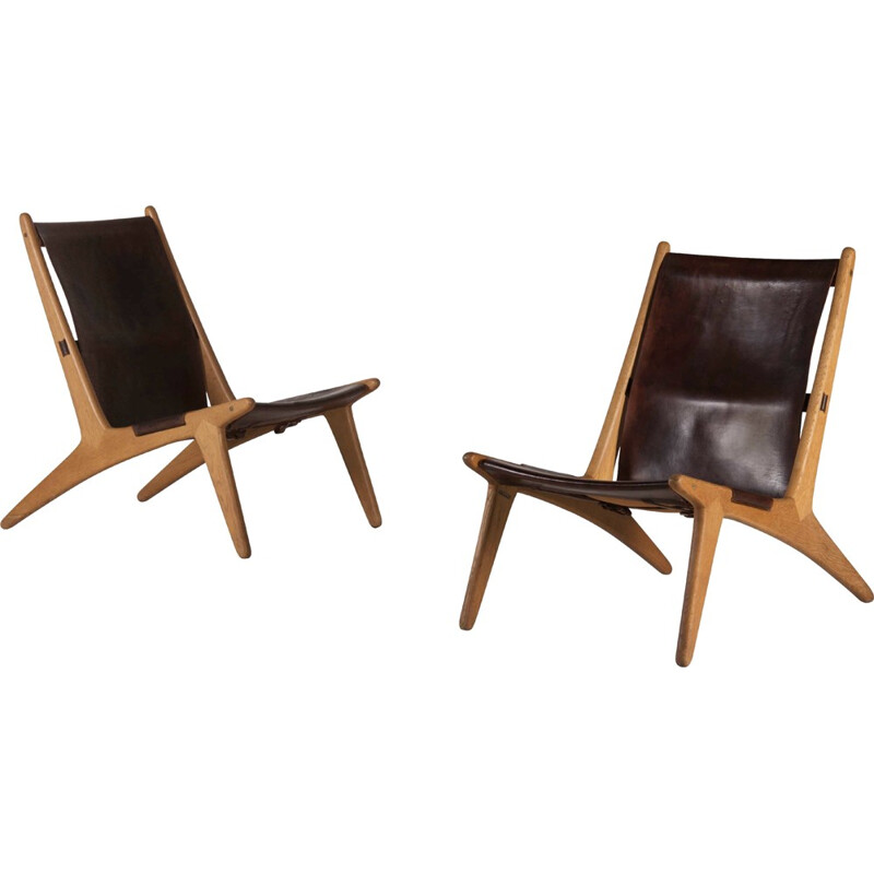 Pair of Hunting Chairs by Uno & Östen Kristiansson - 1950s