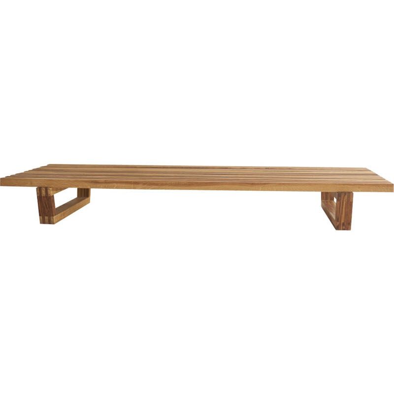 Vintage French bench by Fidèle Chapo - 2000s