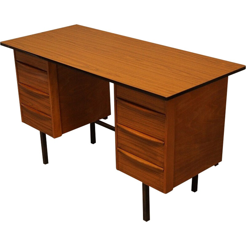 Scandinavian office  in wood and formica - 1960s