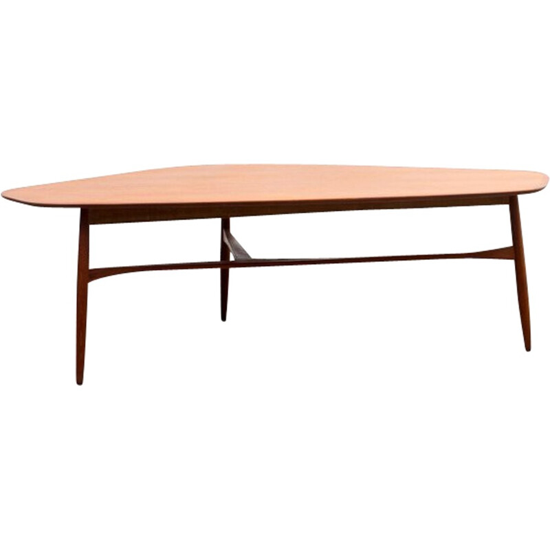Three-legged coffee table in teak by Svante Skogh - 1950s