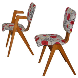 "2 armchairs + 2 ""Hillestak"" model chairs, Robin DAY - 1953"