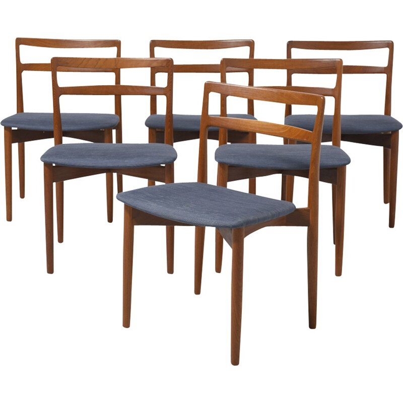 Set of 6 dining room chairs by Harry Østergaard - 1950s
