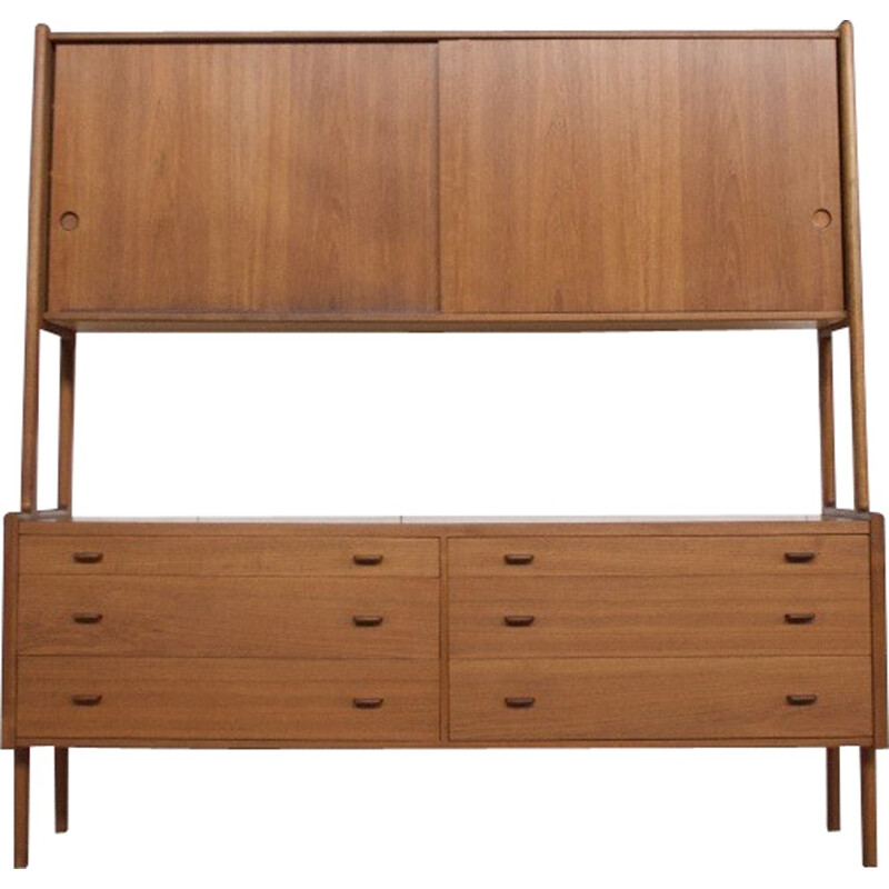 Teak double part Sideboard  by Hans Wegner for Ry Møbler - 1960s