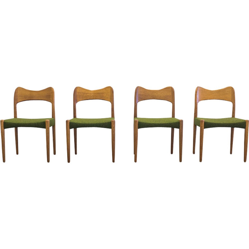 Set of four vintage dining chairs by Arne Hovmand Olsen - 1950s