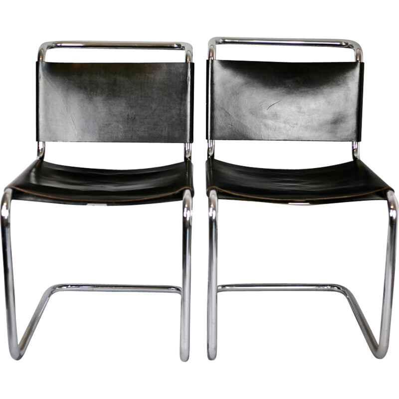 Pair of chairs B33 by Marcel Breuer for Dino Gavina - 1950s