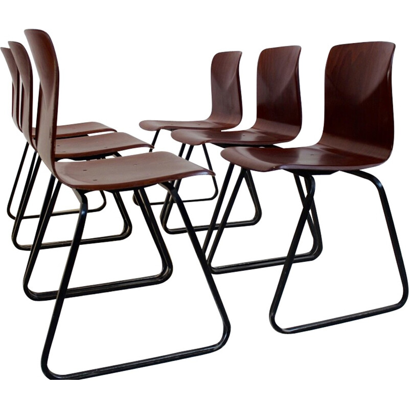 Stackable Galvanitas S22 chair by Pagholz - 1970s